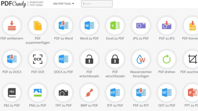 PDF Candy: Online PDF-Dateien verarbeiten ©COMPUTER BILD