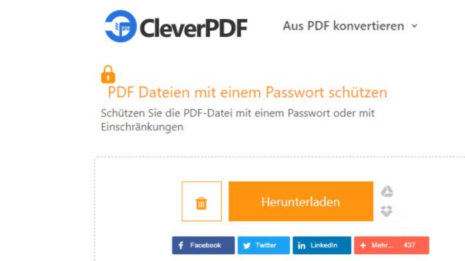 PDF-Datei mit Passwort schützen ©COMPUTER BILD