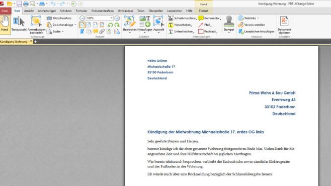 PDF-XChange Viewer: (Web-)PDFs öffnen und recherchieren ©COMPUTER BILD
