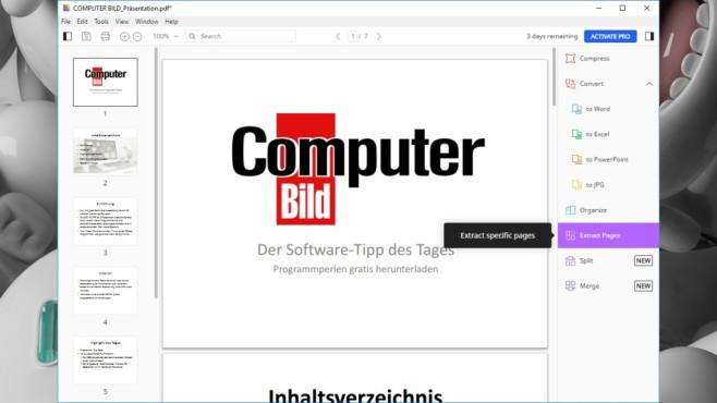 SmallPDF: Aufgaben rund um PDFs erledigen ©COMPUTER BILD