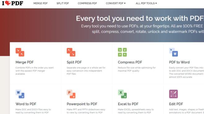 iLovePDF: Online-Tools für PDF-Liebhaber ©COMPUTER BILD