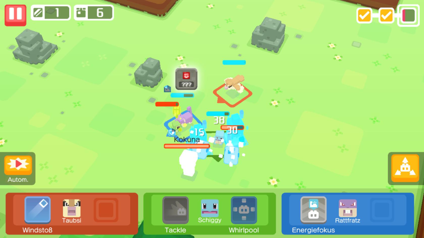 Screenshot 1 - Pokémon Quest (App für iPhone & iPad)