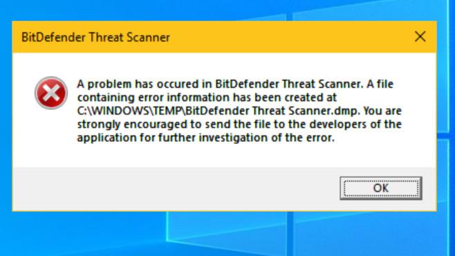 BitDefender Threat Scanner: Fehlermeldung©COMPUTER BILD