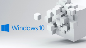 Grafik mit Windows-10-Logo und Würfel©Stock.com/da-kuk