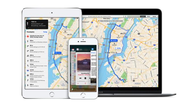 Apple Maps auf mobilen Geräten©Apple