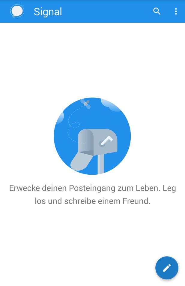 Screenshot 1 - Signal Messenger (Android-App)