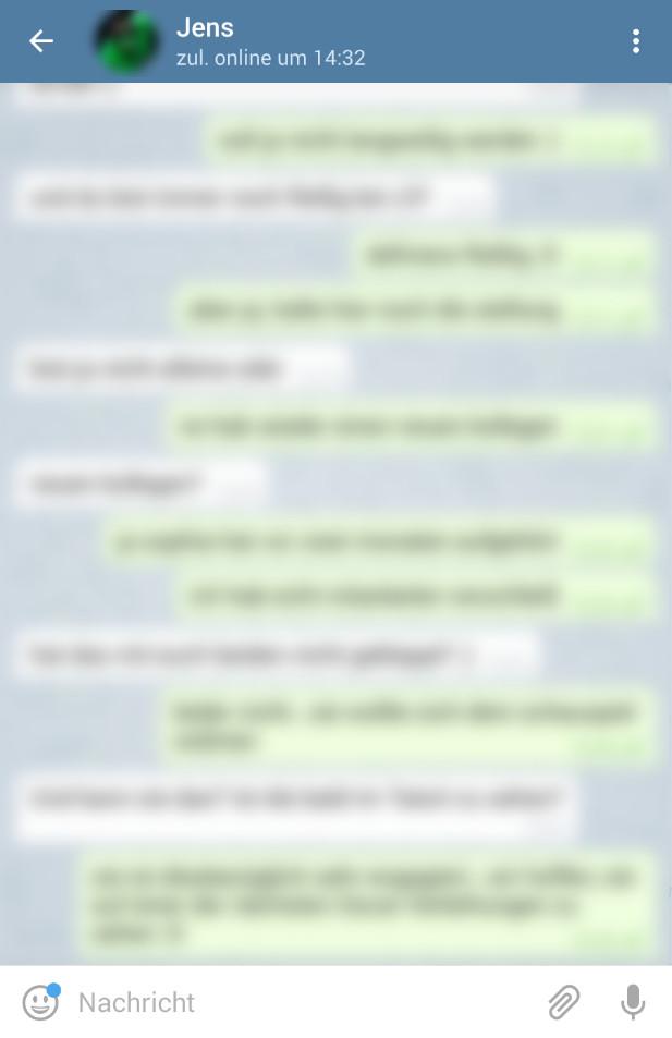 Screenshot 1 - Telegram Messenger (Android-App)