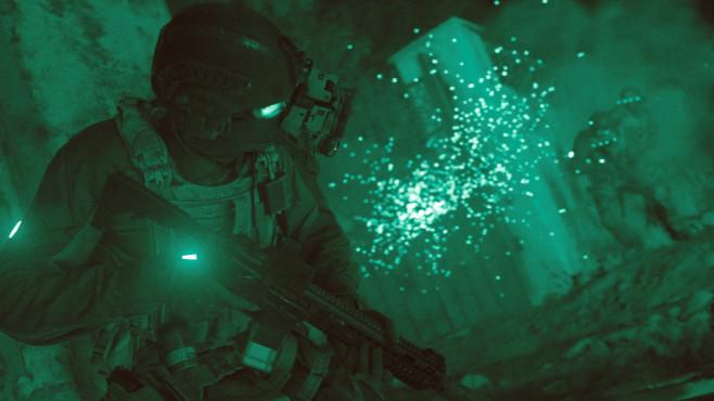 Call of Duty – Modern Warfare: Geschichtsträchtig! Die Nachtsichtansicht ist dank neuer technologischer Möglichkeiten noch beeindruckender als in den Vorgängern.©Activision