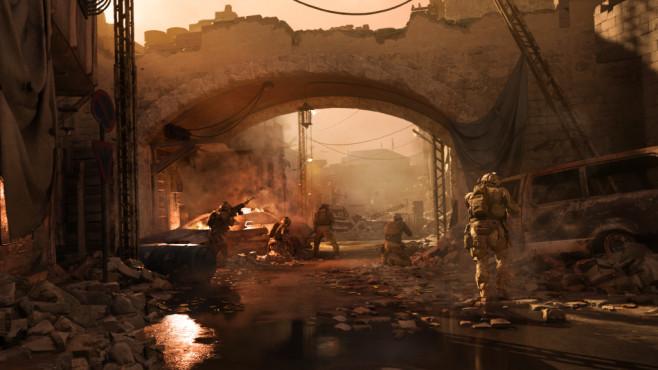 Call of Duty – Modern Warfare: Geschichtsträchtig! Schauplätze sind unter anderem der Mittlere Osten, London und Osteuropa.©Activision