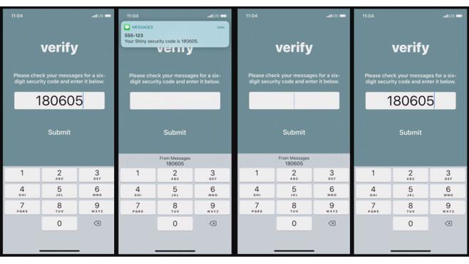 iOS 12: Security Code AutoFill©Apple