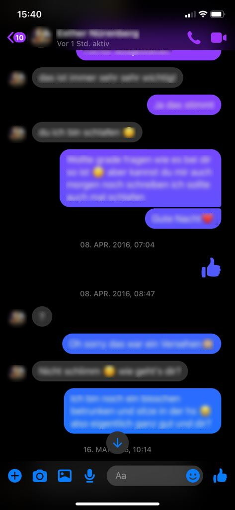 Screenshot 1 - Facebook Messenger (App für iPhone & iPad)