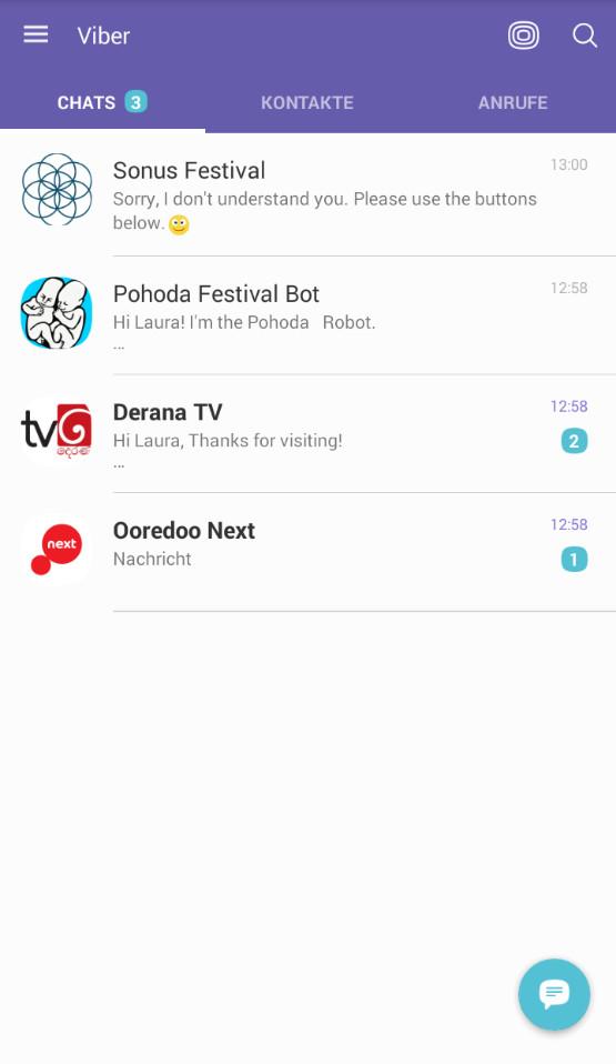 Screenshot 1 - Viber Messenger (Android-App)