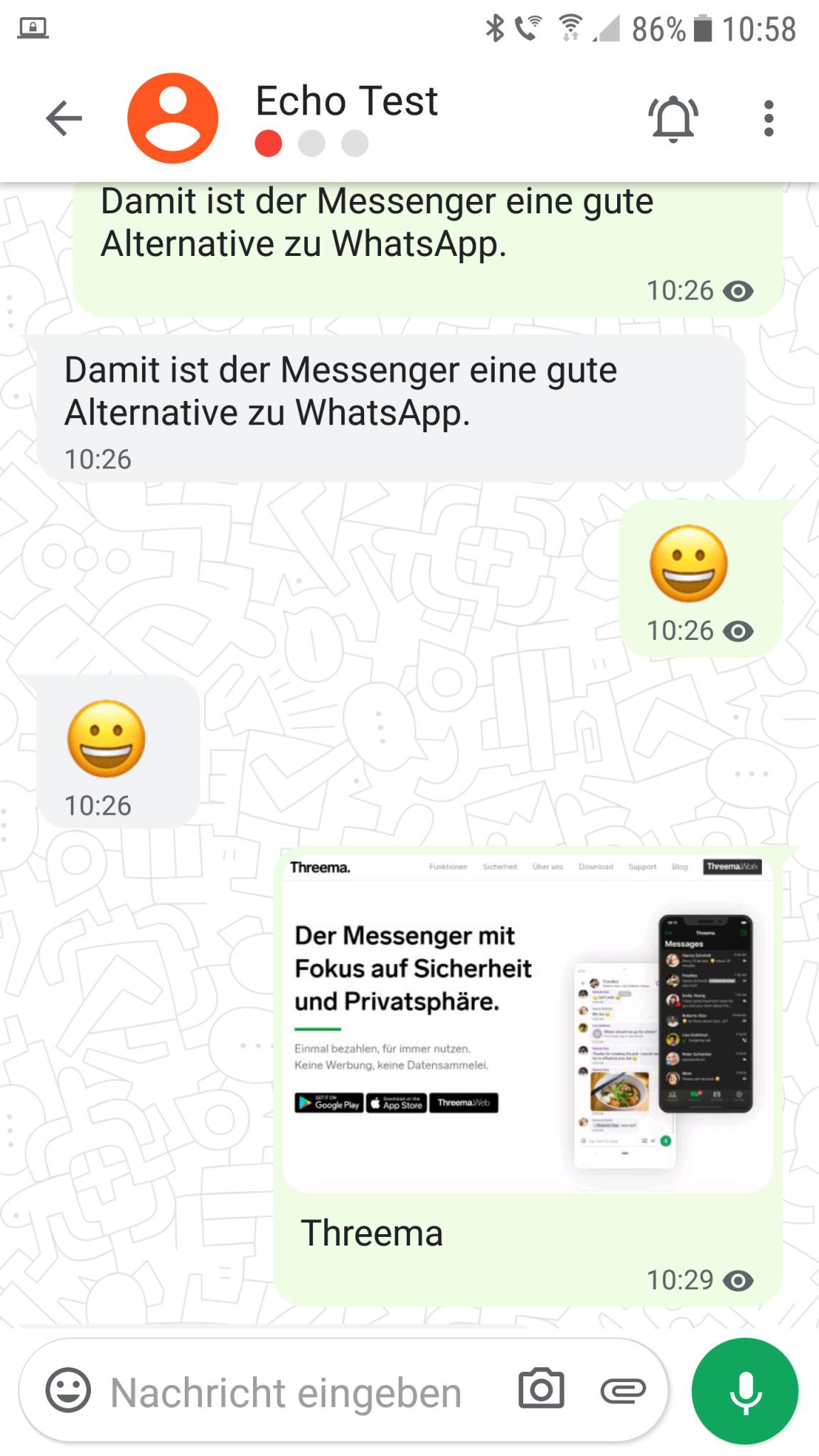 Screenshot 1 - Threema (Android-App)