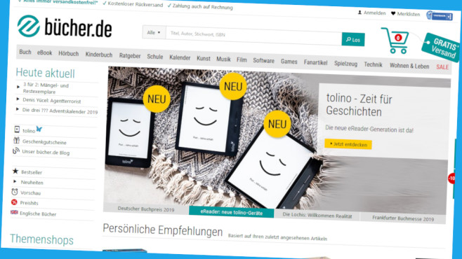 25 Euro Rabatt bei bücher.de©Screenshot www.buecher.de
