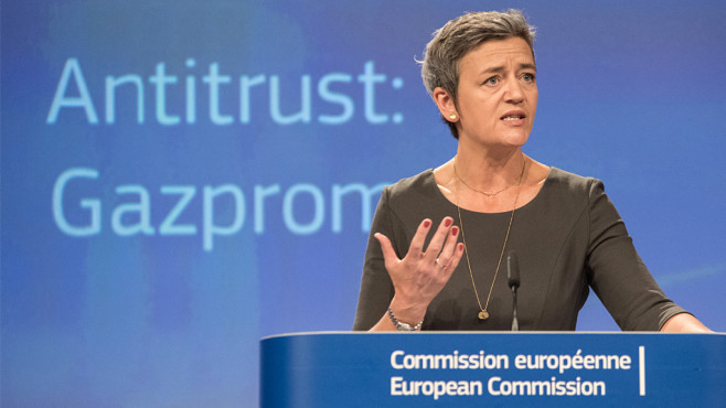 EU-Kommissarin Margrethe Vestager in Brüssel©Riccardo Pareggiani