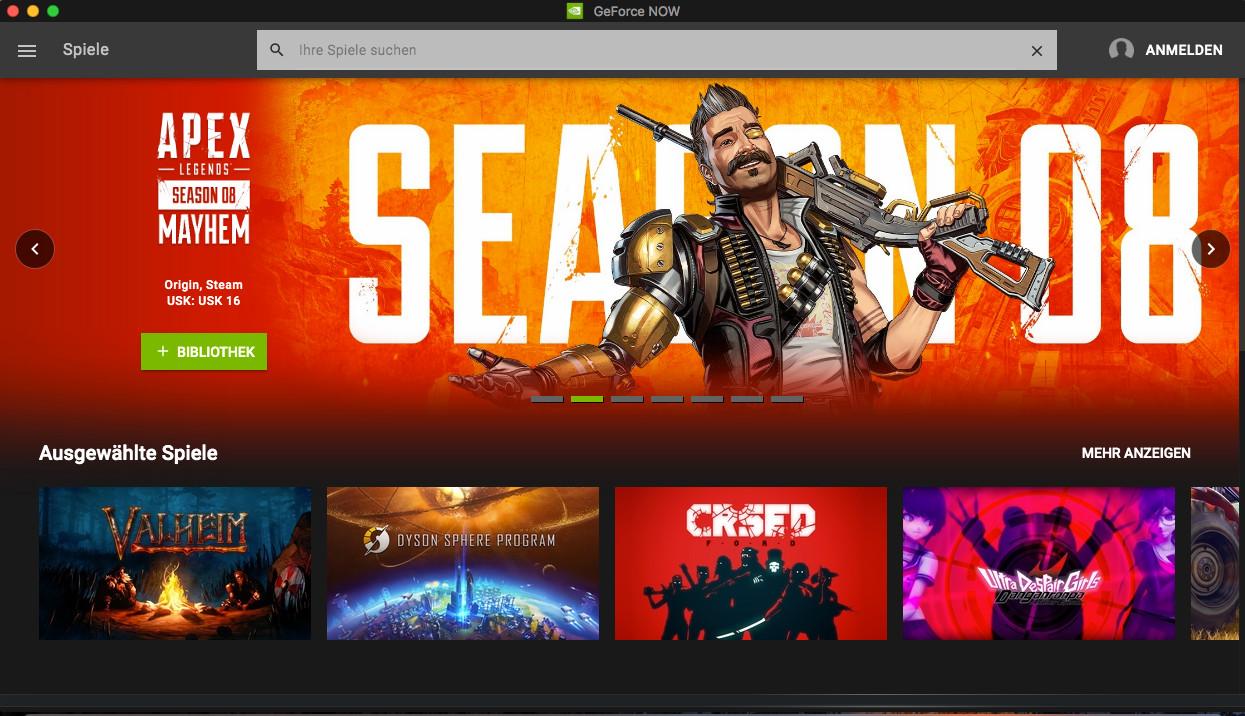 Screenshot 1 - GeForce Now (Mac)