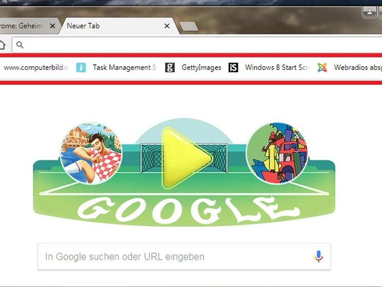 Google Chrome Lesezeichen Ausblenden Computer Bild