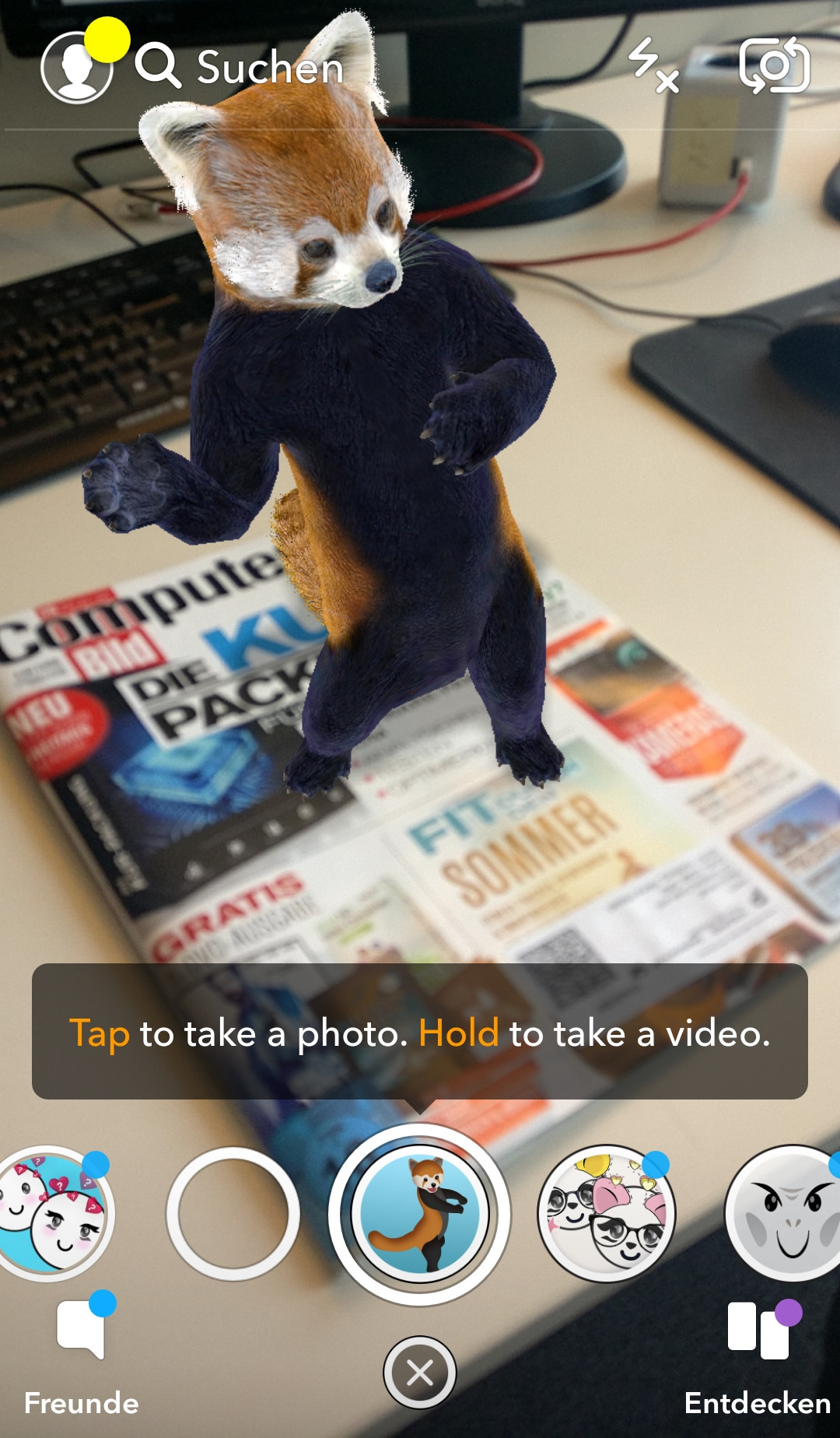 Screenshot 1 - Snapchat (Android-App)