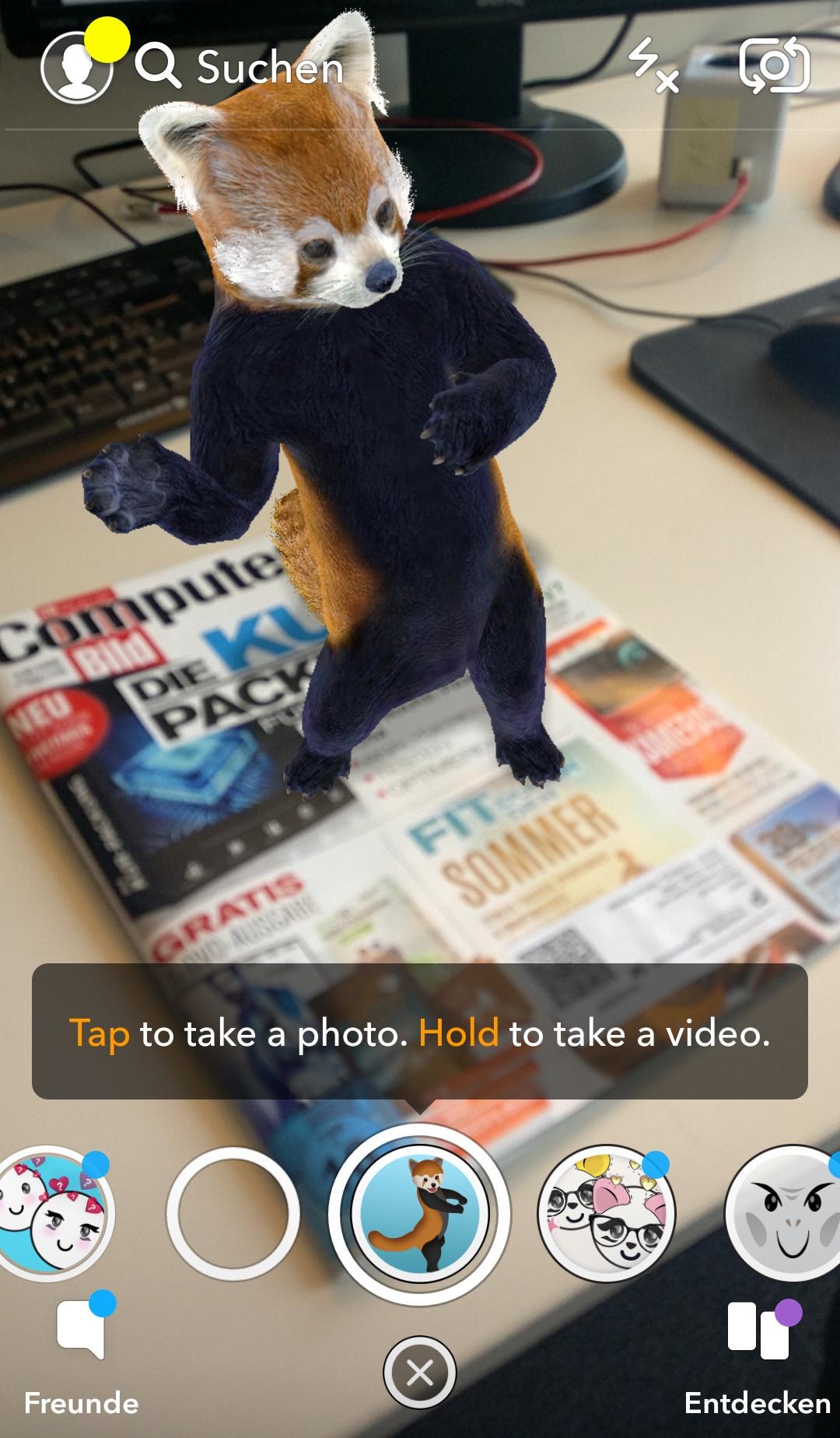 Screenshot 1 - Snapchat (App für iPhone & iPad)