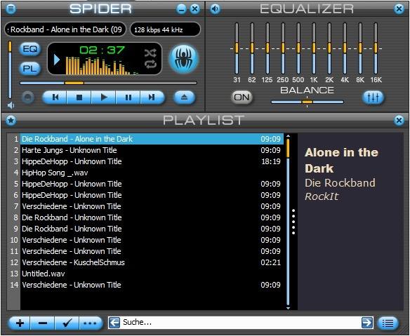 Screenshot 1 - Spider Player