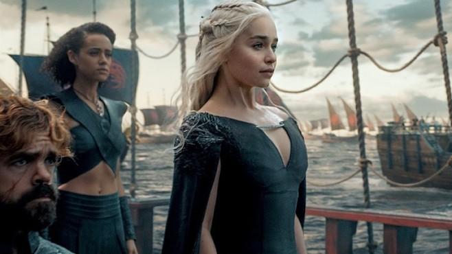 Game of Thrones: Szene mit Emilia Clarke © HBO
