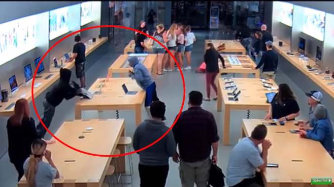 Apple Store Raubüberfall©BFG