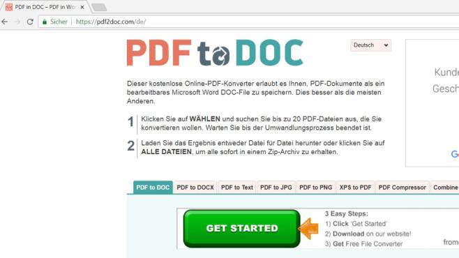 Word in PDF und PDF in Word umwandeln: Vier Tools-Tools erledigen das©COMPUTER BILD