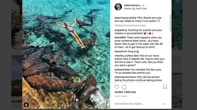 Bildschirmfoto des Instagram-Posts©Katarina Zarutskie/Instagram