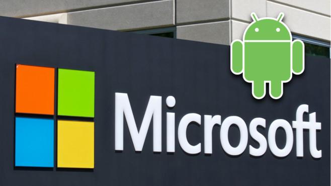 Microsoft-Logo, Android-Logo©Microsoft, Google