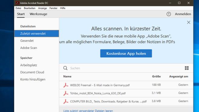Die besten PDF-Reader und PDF-Viewer: PDF öffnen©COMPUTER BILD