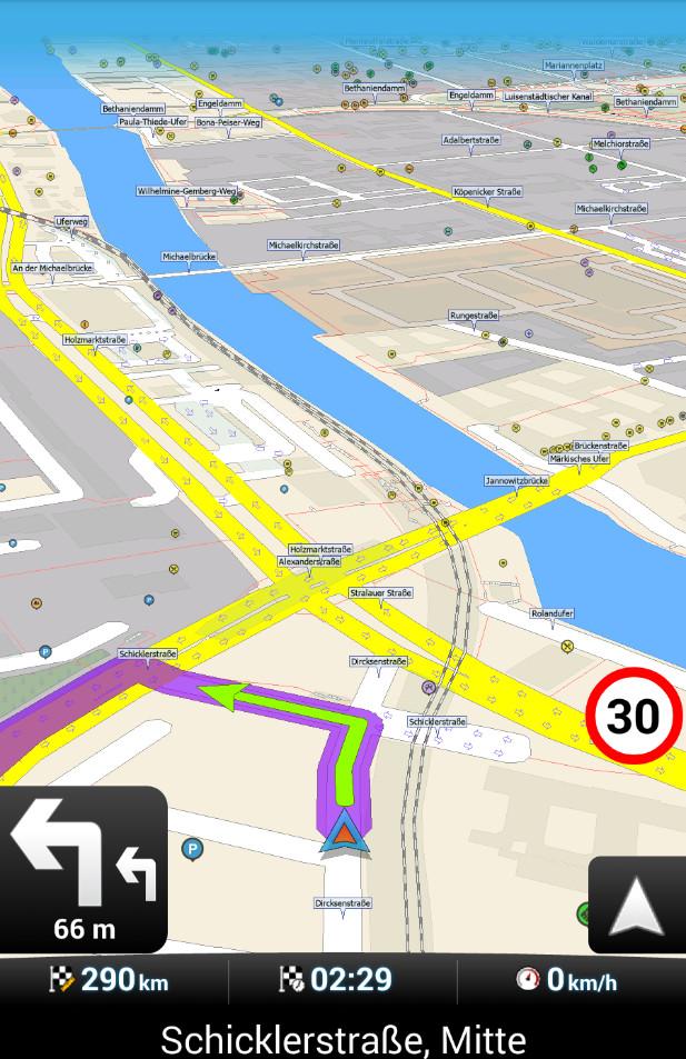 Screenshot 1 - MapFactor GPS Navigation Maps (App für iPhone & iPad)