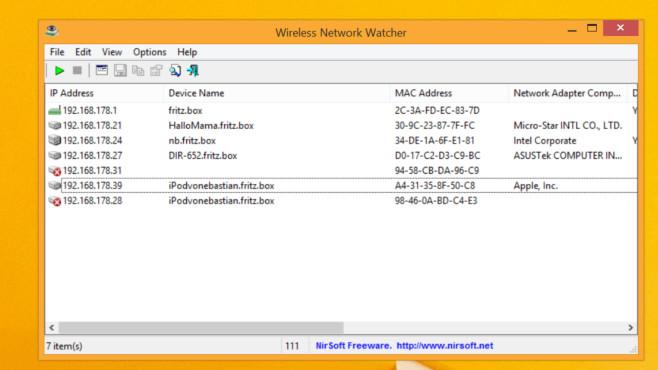 WLAN-Hacker finden: Kostenloses Windows-Tool spürt Mitsurfer auf©COMPUTER BILFDD