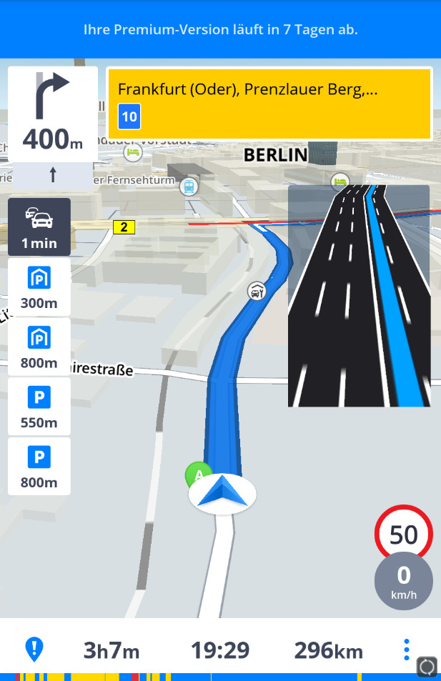 Screenshot 1 - Sygic GPS-Navigation & Offline-Karten (Android-App)