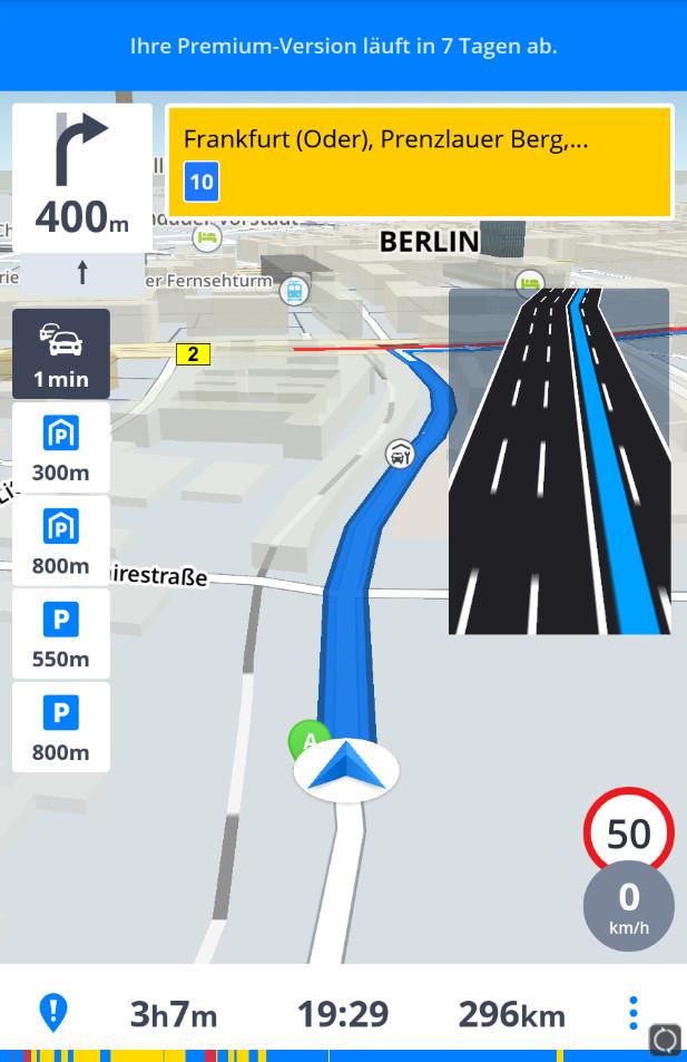 Screenshot 1 - Sygic GPS-Navigation & Offline-Karten (App für iPhone & iPad)