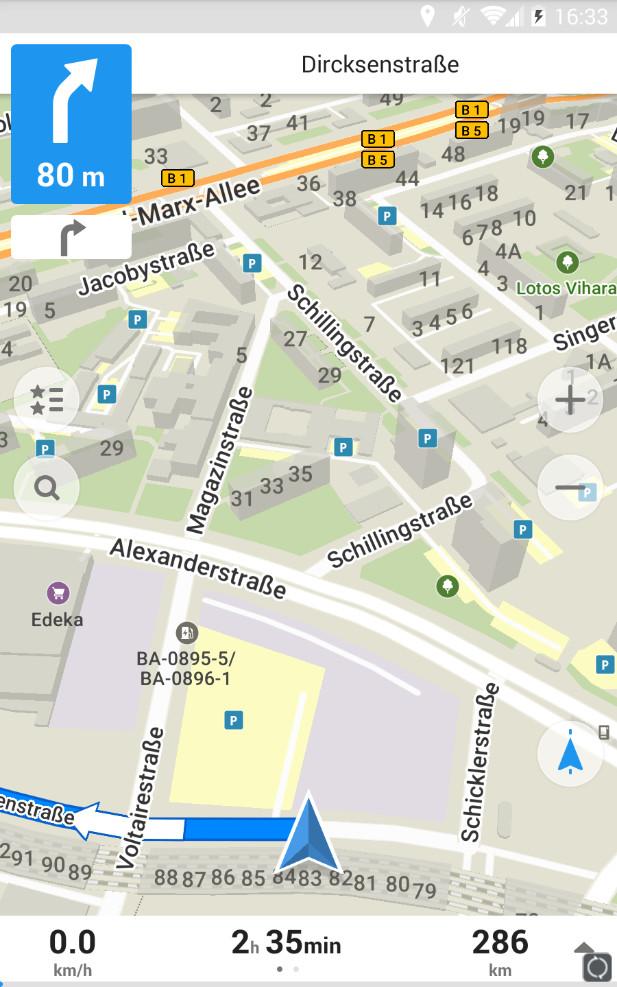 Screenshot 1 - Maps.me Offline-Karten & GPS-Routenplaner (Android-App)