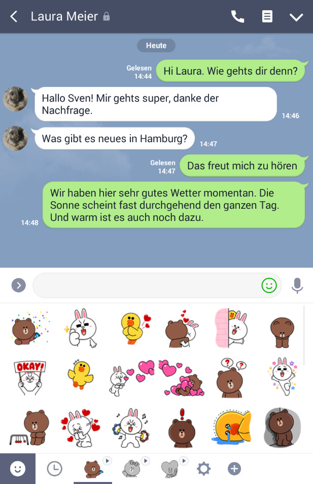 Screenshot 1 - Line Messenger (App für iPhone & iPad)