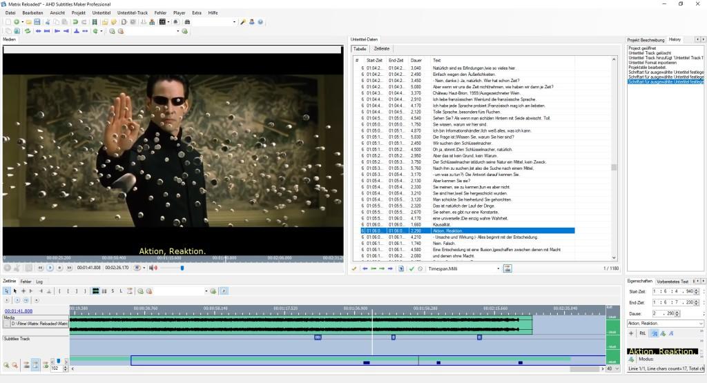 Screenshot 1 - AHD Subtitles Maker Professional