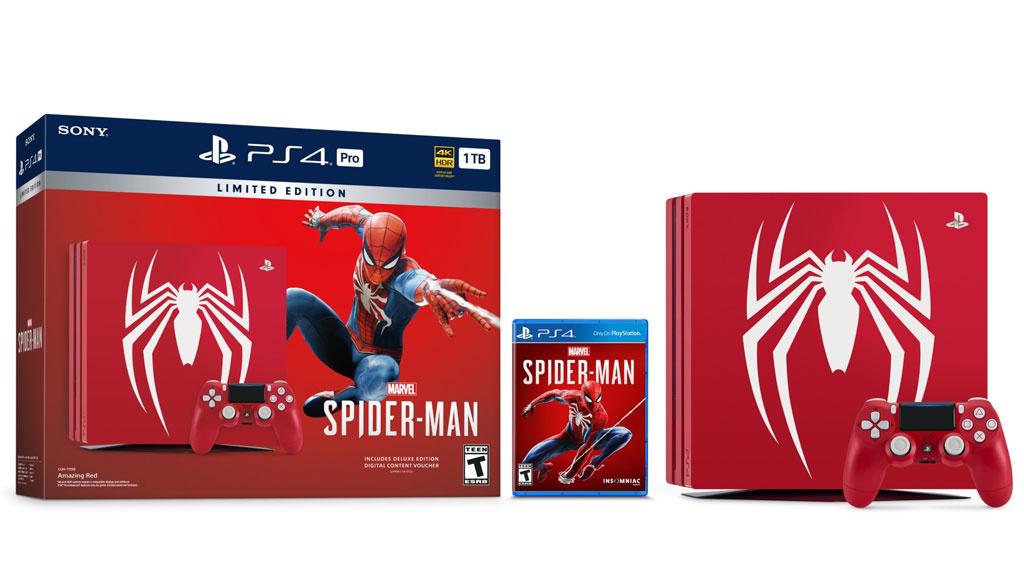 ps4 pro sony enth llt spider man edition computer bild. Black Bedroom Furniture Sets. Home Design Ideas