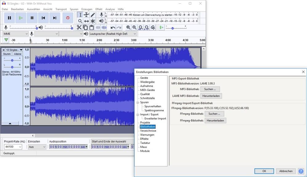 Screenshot 1 - LAME MP3 Encoder (Installer)