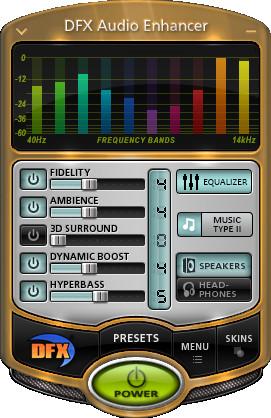 Screenshot 1 - DFX Audio Enhancer