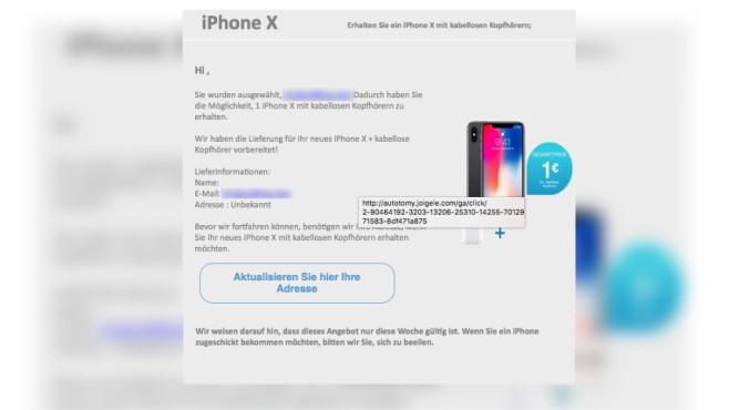 Betrug Iphone X Gewinn Ist Ein Fake Computer Bild