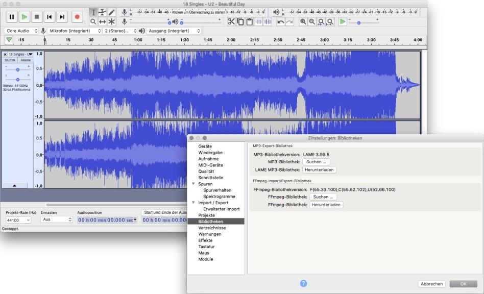 Screenshot 1 - LAME MP3 Encoder (Installer) (Mac)