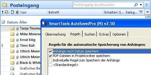 Screenshot 1 - SmartTools AutoSave für Outlook