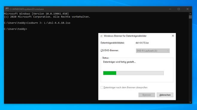 Windows 7/8/10: ISO-Dateien brennen mit Bordmitteln, Tools und CMD Das Brennen von ISO-Dateien mit einem Kommandozeilenbefehl ist interessant, weil es möglich ist. Der Nutzen meist gering.©COMPUTER BILD