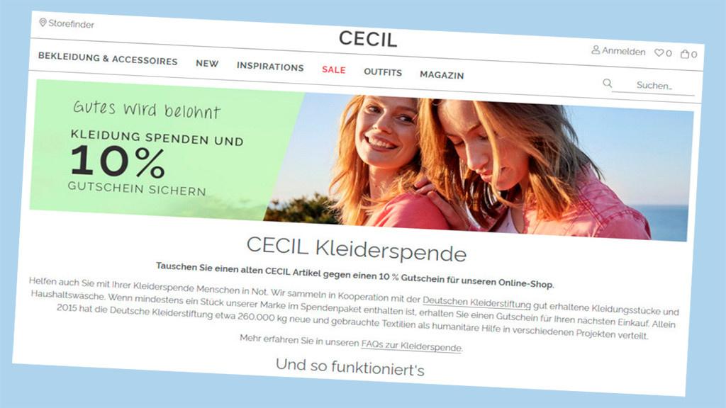 best website shoes for cheap fantastic savings Cecil: Rabatt für Kleiderspende einheimsen - COMPUTER BILD