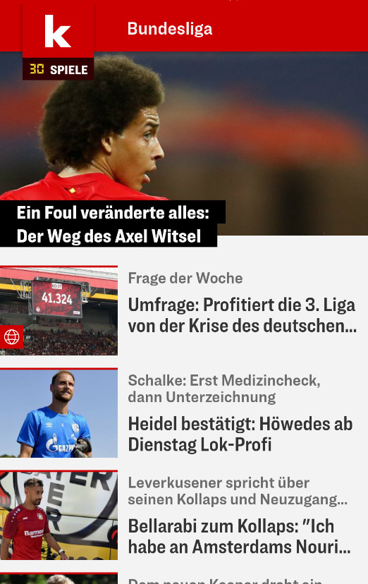 Screenshot 1 - Kicker (App für iPhone & iPad)