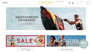 Im Online-Shop von Conleys findet sich nicht nur Mode©Screenshot www.conleys.de