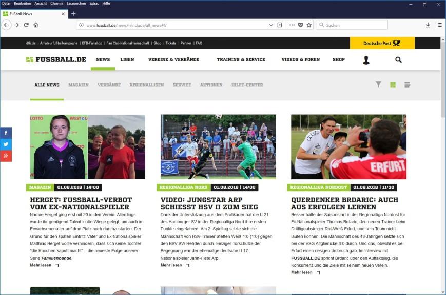 Screenshot 1 - Fussball.de