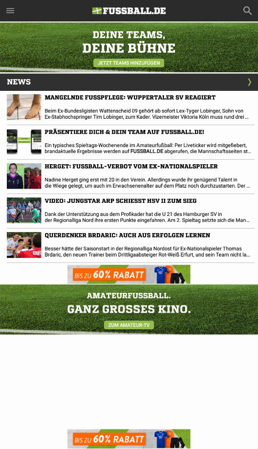 Screenshot 1 - Fussball.de (App für iPhone & iPad)