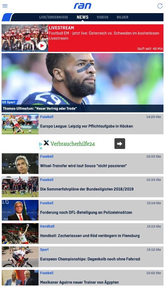 Screenshot 1 - ran (Android-App)